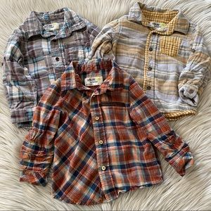 OSH KOSH Long Sleeve Button Down Shirts Bundle